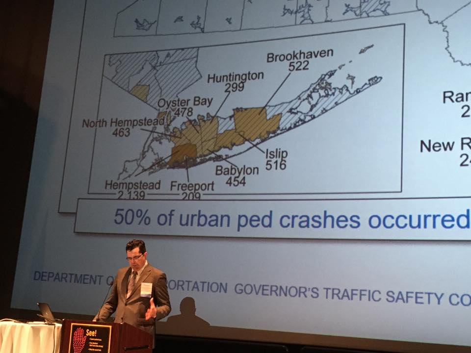 PhotO of NYS DOT update on pSAP at walk-bike NY april 2018