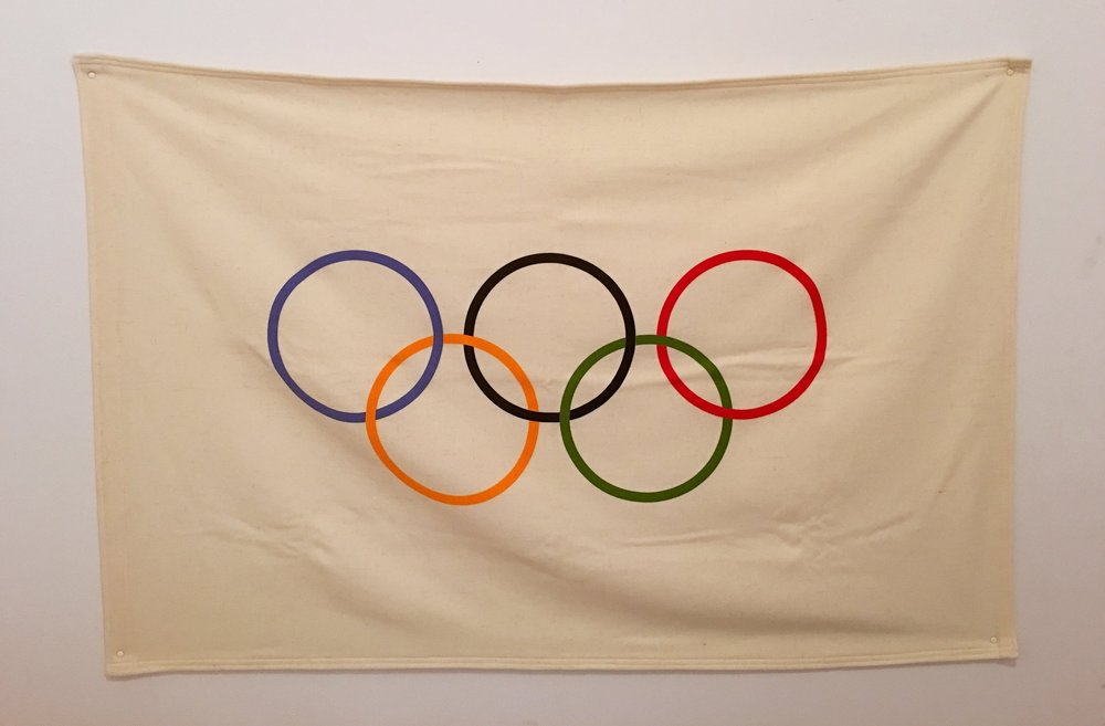 Antique Wool Olympic Flag
