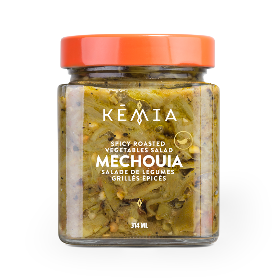 """The queen of salads in Tunisia, thanks in part to its subtle taste of smoked vegetables, Mechouia can be served as an accompaniment to grilled meat and fish, or simply as a starter. Interestingly, """"Mechouia"""", just like the term """"Mechoui"""", means """"roasted on an open fire"""" in Arabic."""