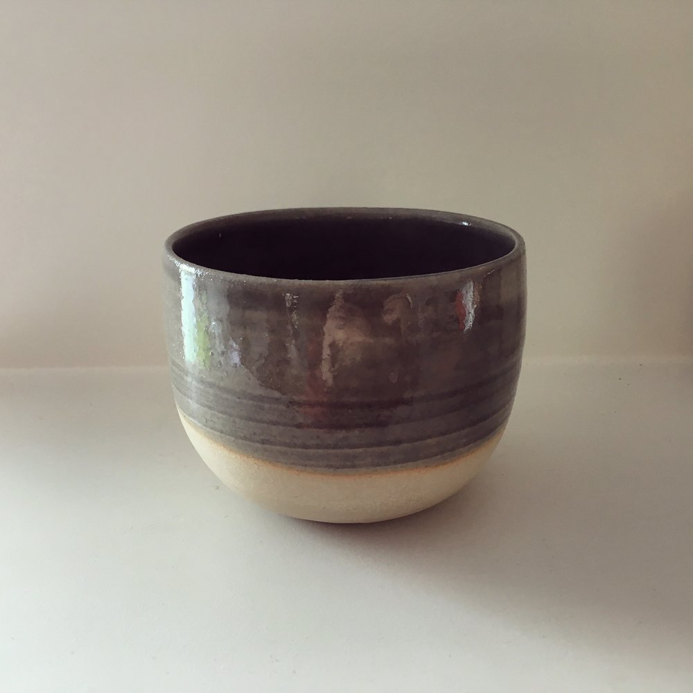 "Coffee cup   Stoneware with wood ash glaze 'Berlin"" made from Dutch trees.   Ø 9  cm - €15"