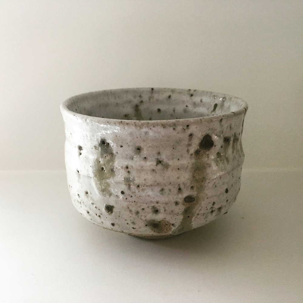 CHAWAN   Chawan with Peak District, EN clay from an old lead mine.