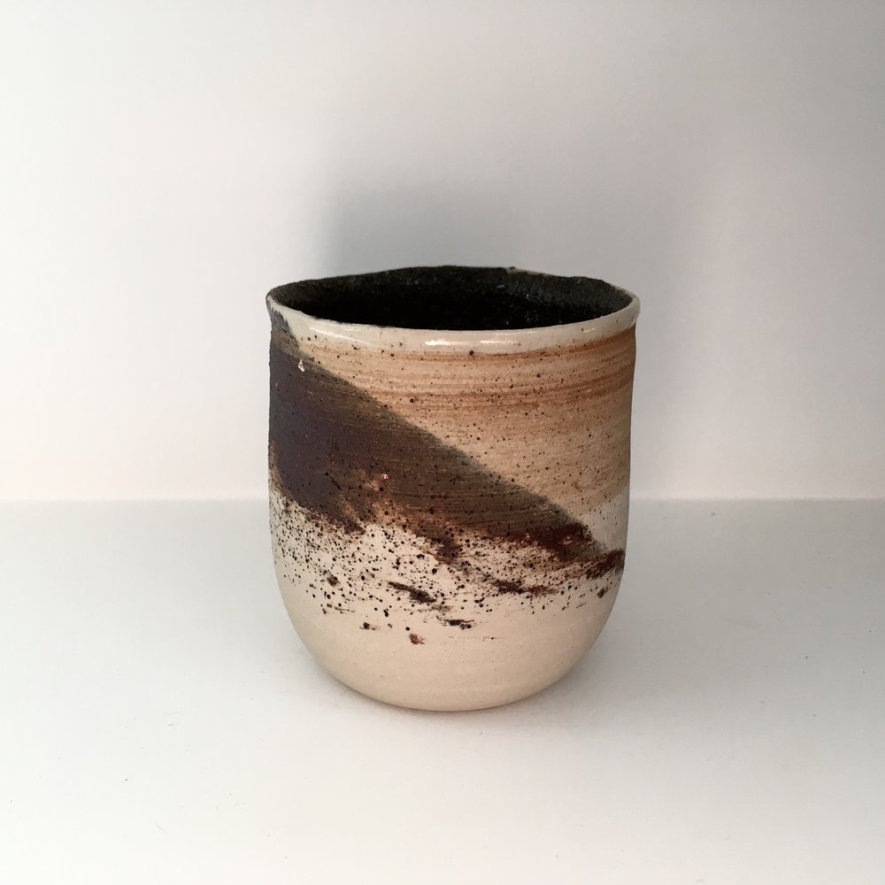 CUP   Swirled clay mix from Vimoutiers, Normandy in France.