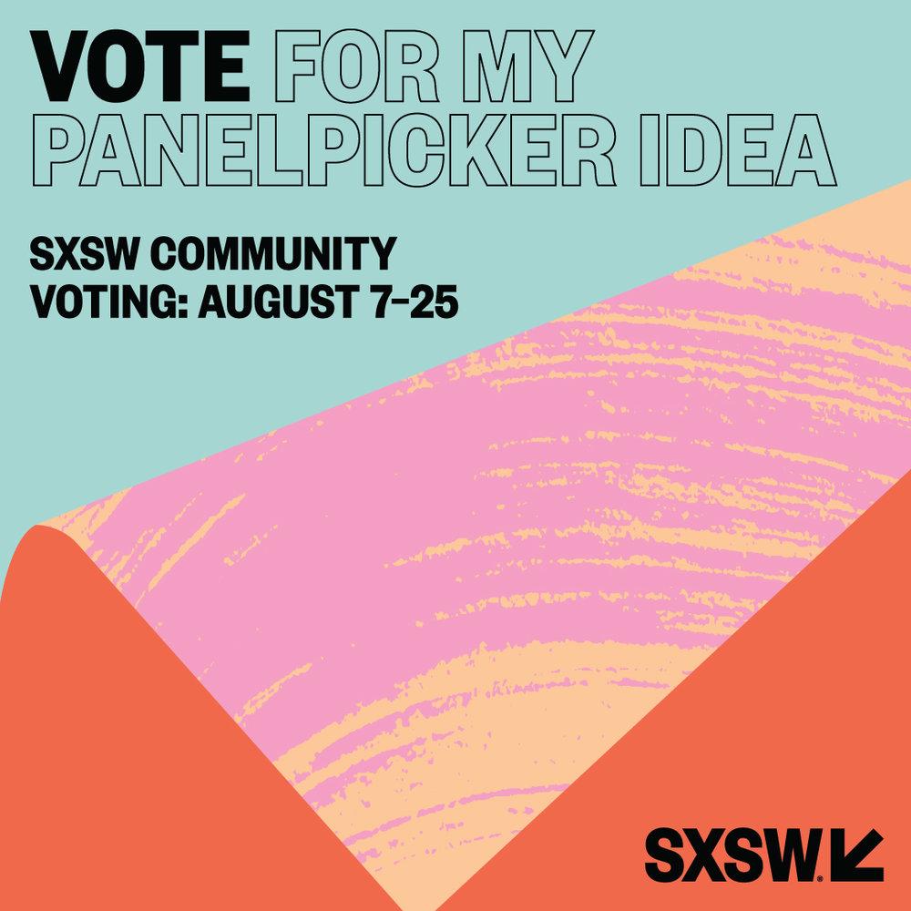 http://panelpicker.sxsw.com/vote/71800