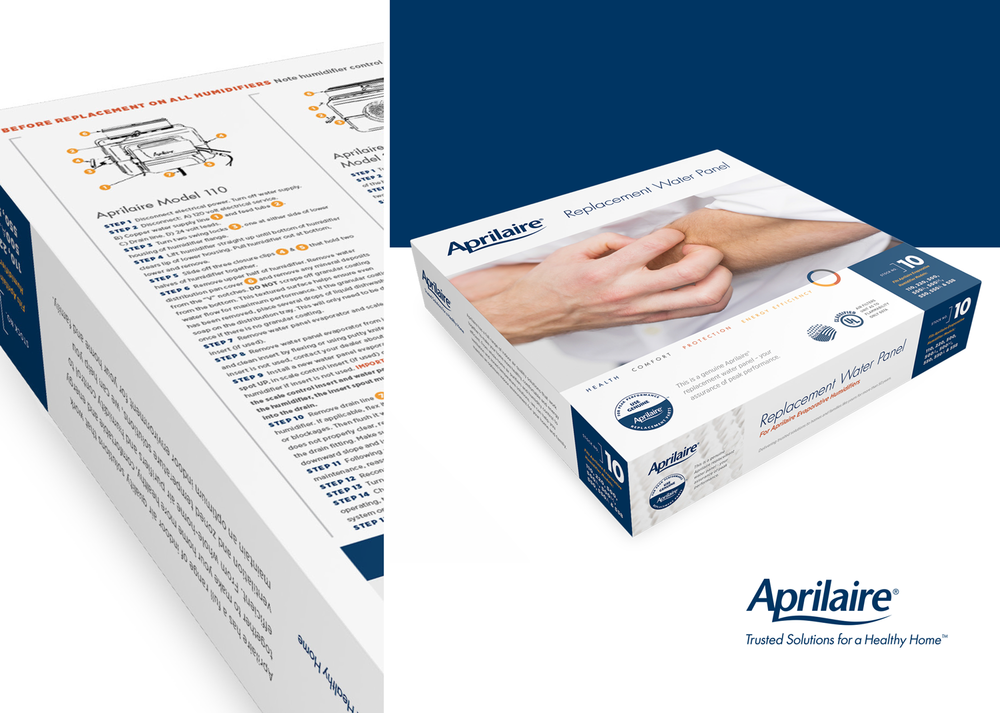 Aprilaire Water Panel Packaging