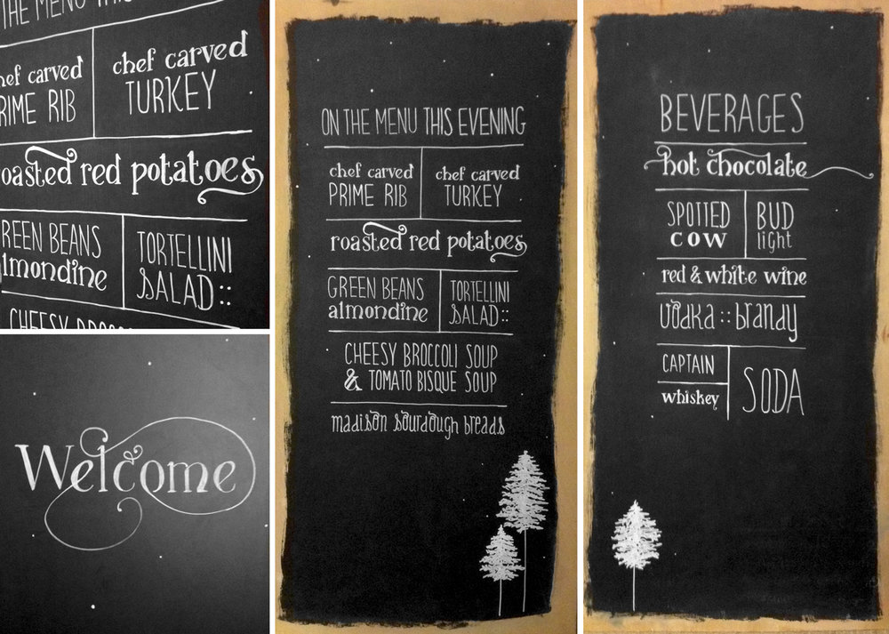 Hand-lettered Menu Boards