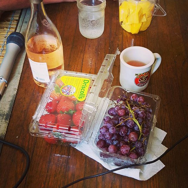 Snacks for 3 basic bitches during our interview with @jessie_kahnweiler - episode up now!