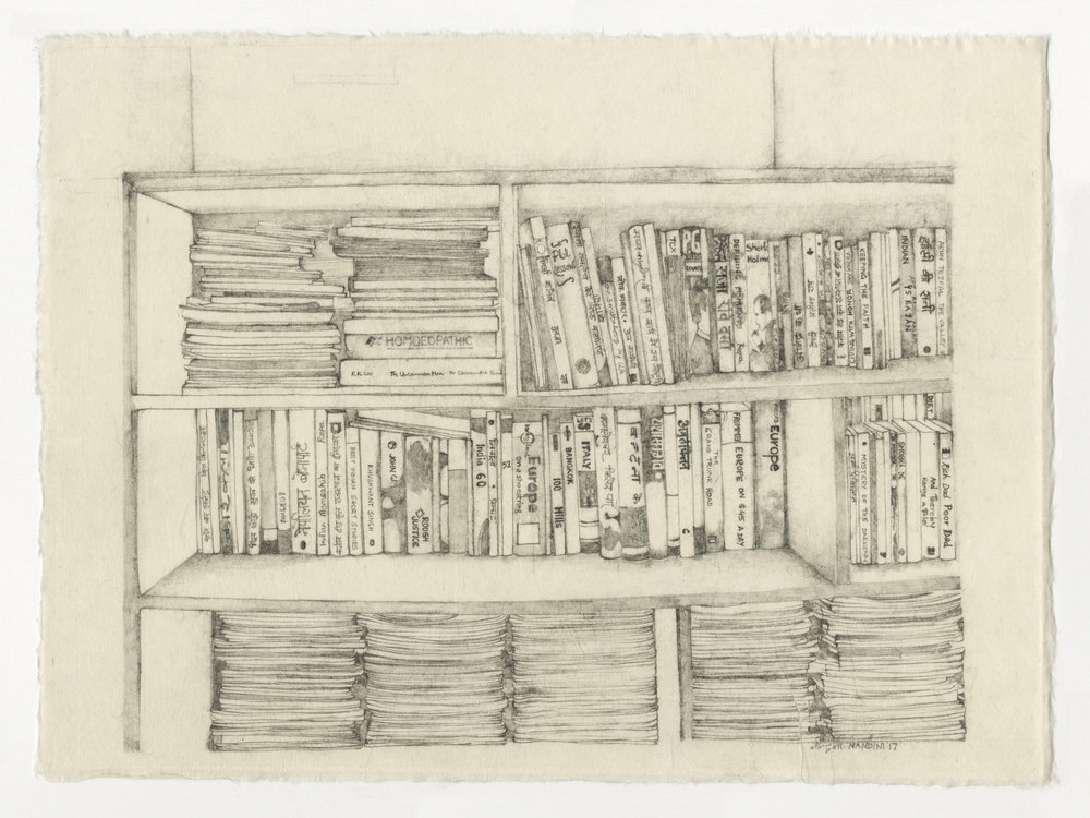 """Nandini Chirimar, Unwritten Wills, pencil on Japanese Kozo paper 2017,12"""" x 16"""""""