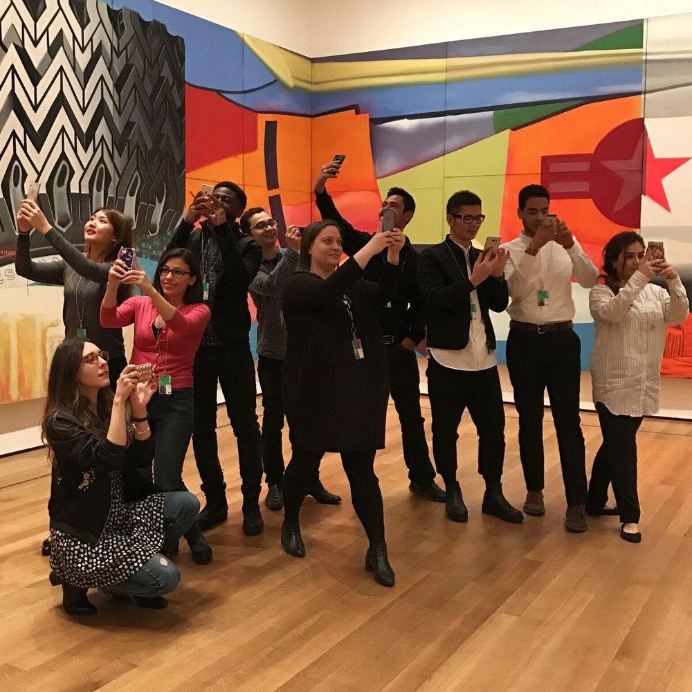 MoMA scholars_LaGuardia Community College_Robin Cembalest_social media workshop