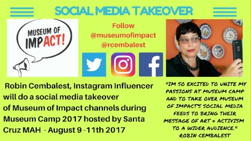 Flyer for Museum of Impact takeover by Robin Cembalest