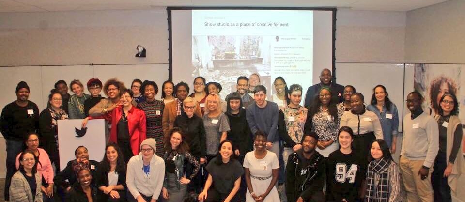 Social-workshop hosted in collaboration with Museum Hue at Twitter's New York headquarters, January 2018.