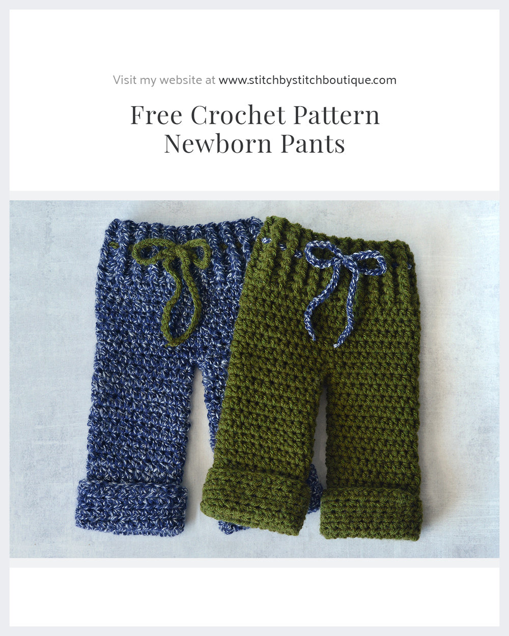 Free Crochet Newborn Pants Pattern