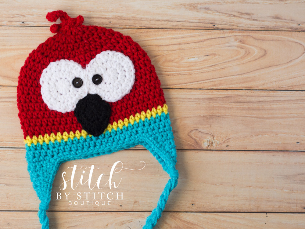 Free Crochet Parrot Hat Pattern