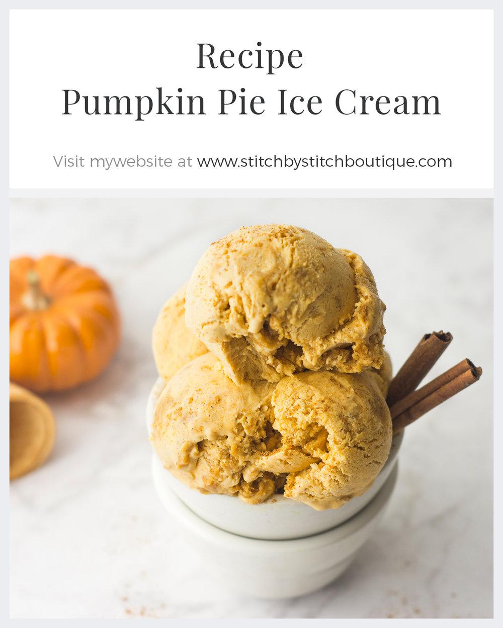 No Churn Pumpkin Pie Ice Cream Recipe