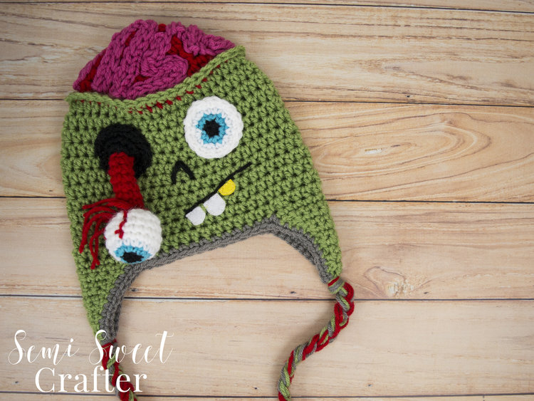 237c898d509 Zombie Hat — Semi Sweet Crafter