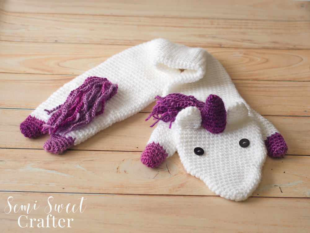 Free Crochet Unicorn Scarf Pattern