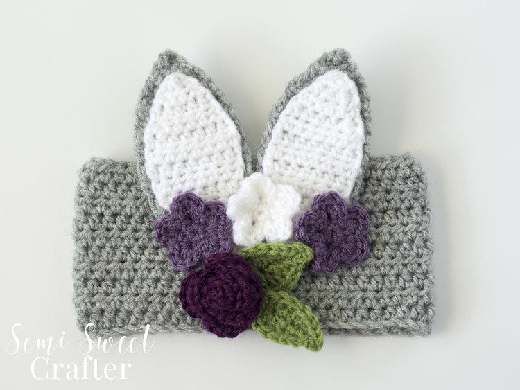 Floral Bunny Headband — Semi Sweet Crafter