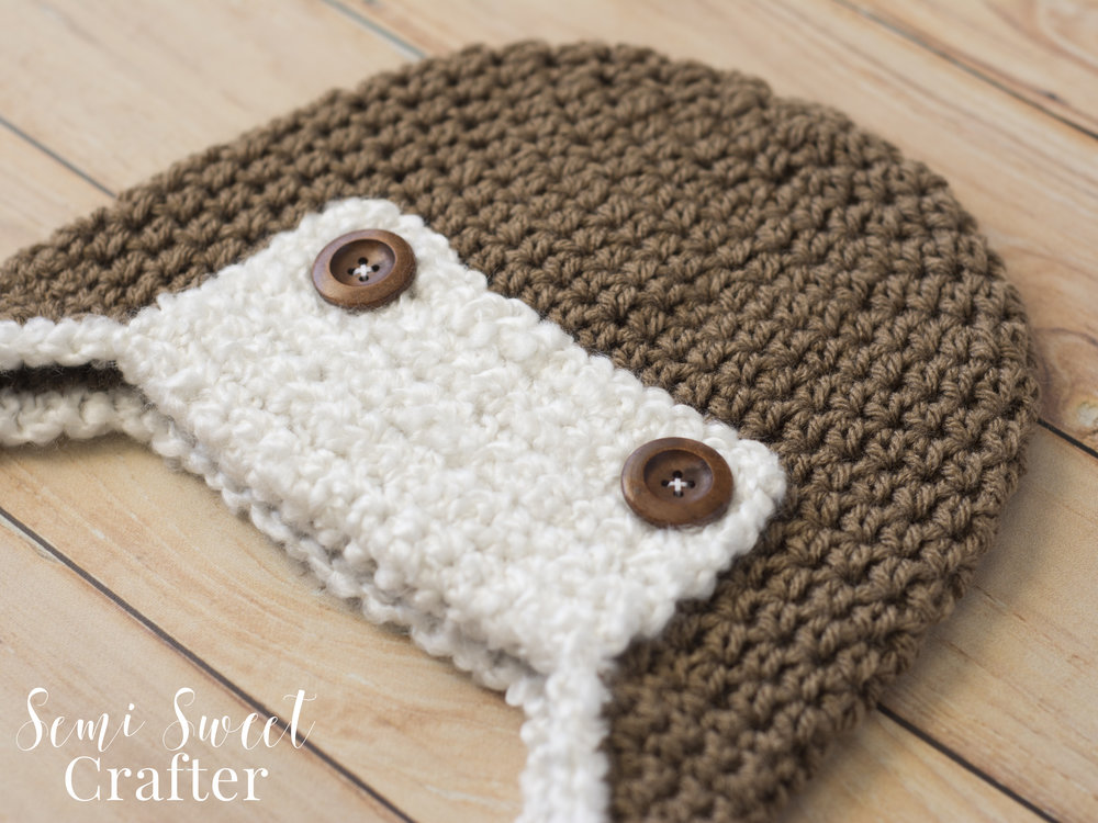 Free Crochet Aviator Hat Pattern