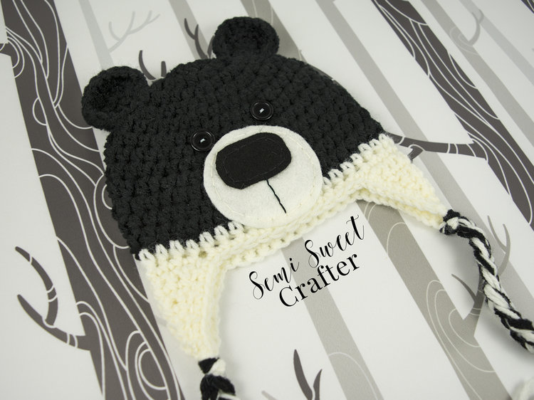 e5d98d9cd75 Black Bear Hat — Semi Sweet Crafter