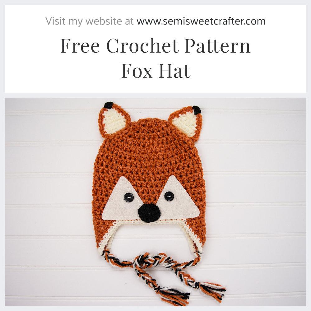 Free Crochet Fox Hat Pattern