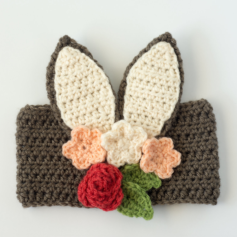 Floral Bunny Headband Semi Sweet Crafter