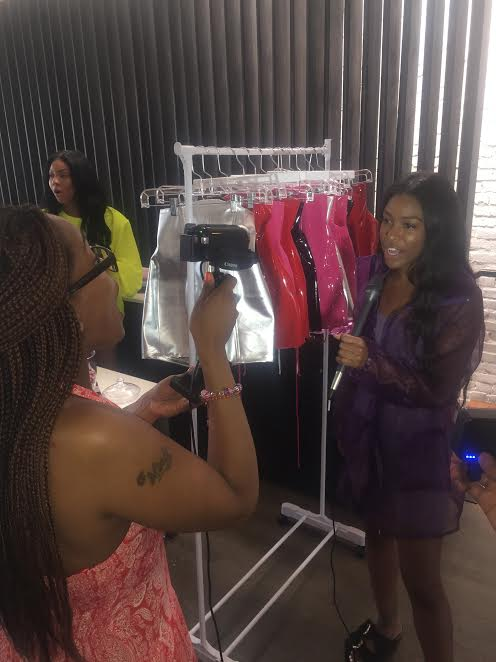 Khala working her interview, she is the founder of @fromgreyscale love her skirts and jackets!