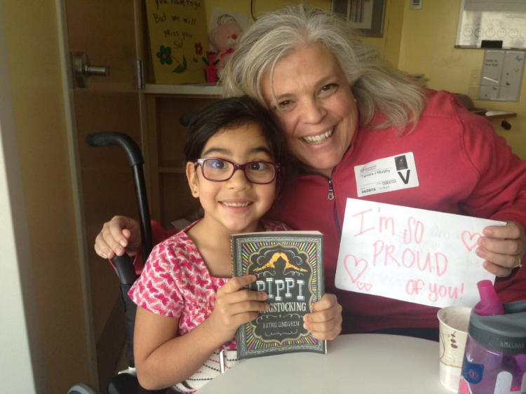 my visit with luisa + a card from natalie + a book about another mighty girl