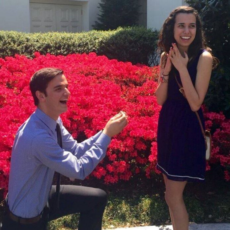 Alex & Rebekah's engagement in the White House Rose Garden, May 2015