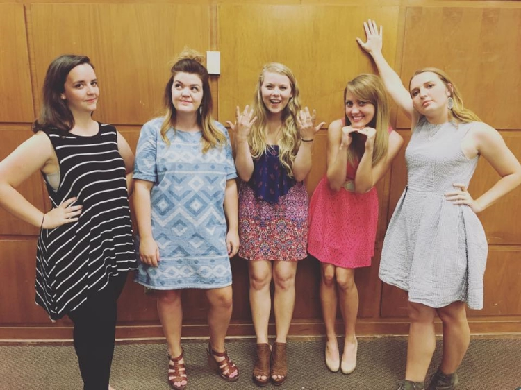 Kendra with the 2016 Phi Lamb officers