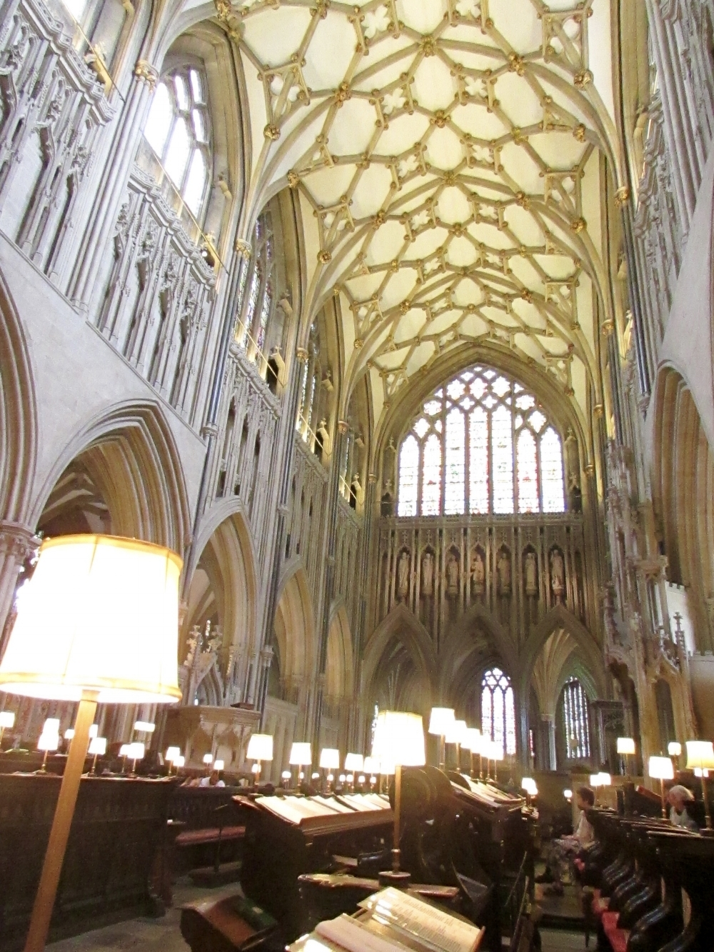 WAITING FOR EVENSONG IN WELLS CATHEDRAL