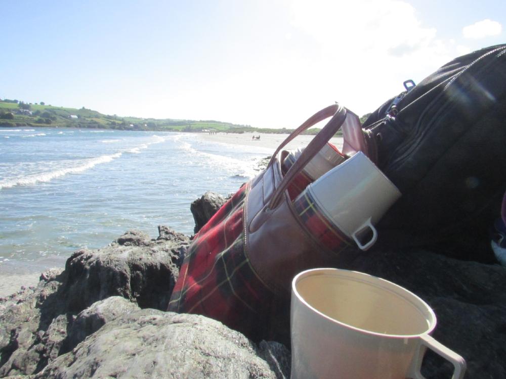 afternoon tea on the inchydony island beach (better hot tea than cold swim!)