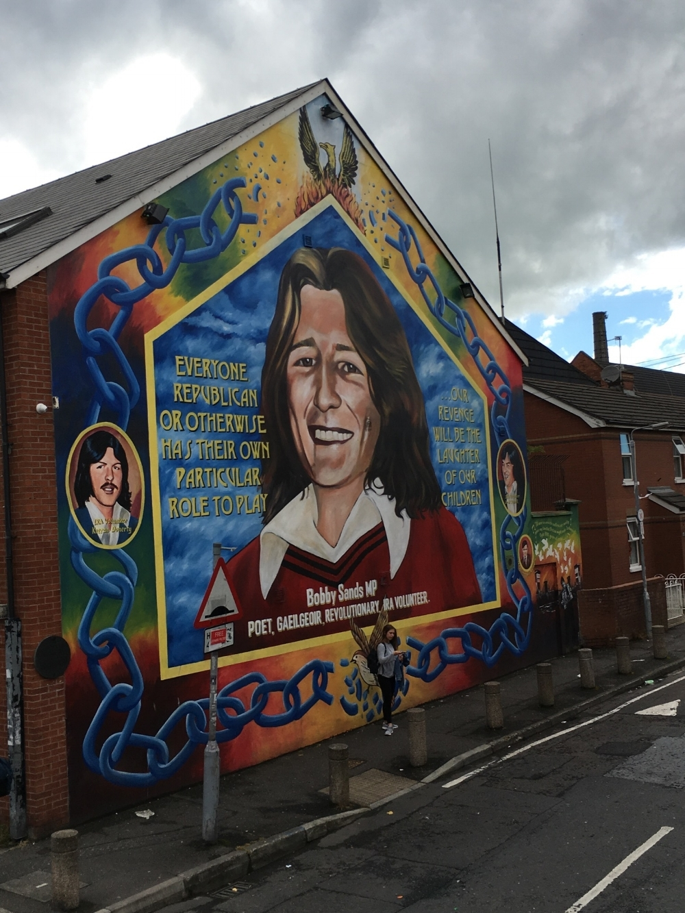 memorial for bobby sands, one of the IRA prisoners who died in a 1981 hunger strike