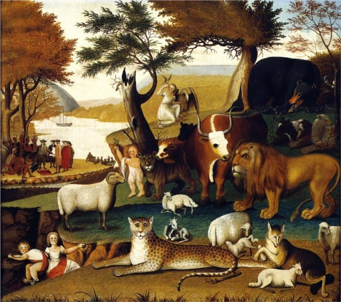 peaceable kingdom  (1848) by edward hicks ( source )