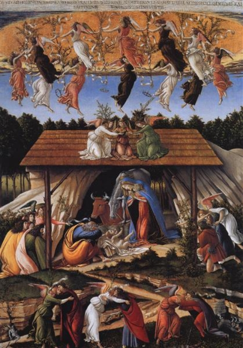The Mystical Nativity by Sandro Botticelli ( source )