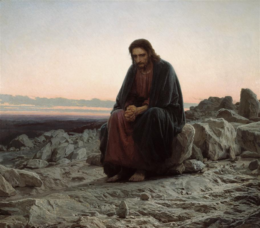 Christ in the Desert by Ivan Kramskoy  (source )