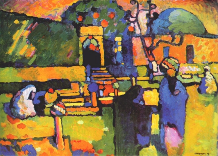 Arabs I (Cemetery)  by Wassily Kandinsky ( source )