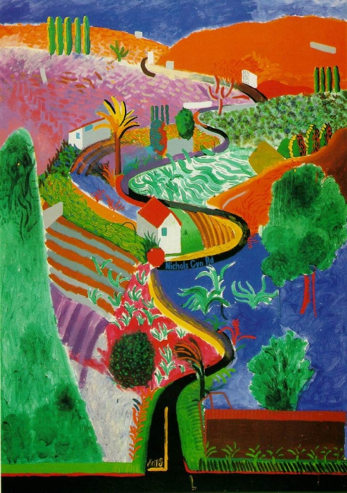 Nichols Canyon  by David Hockney ( source )