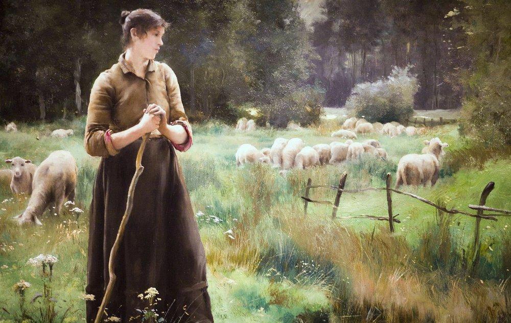The Good Shepherd  by Julien Dupre ( source )