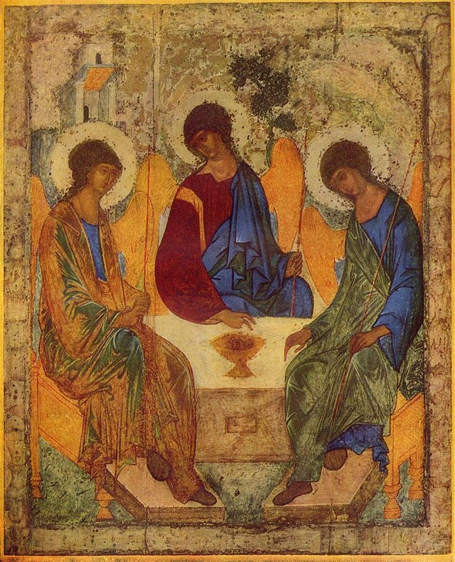 Trinity (icon) by Andrei Rublev, 1410 (Source)