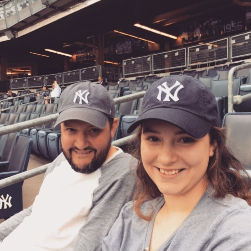 A good man from our church gave us the work VIP tickets he couldn't use. The Yanks lost, but we loved our time anyway!