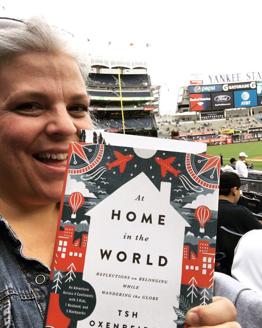 Reading at Yankee stadium