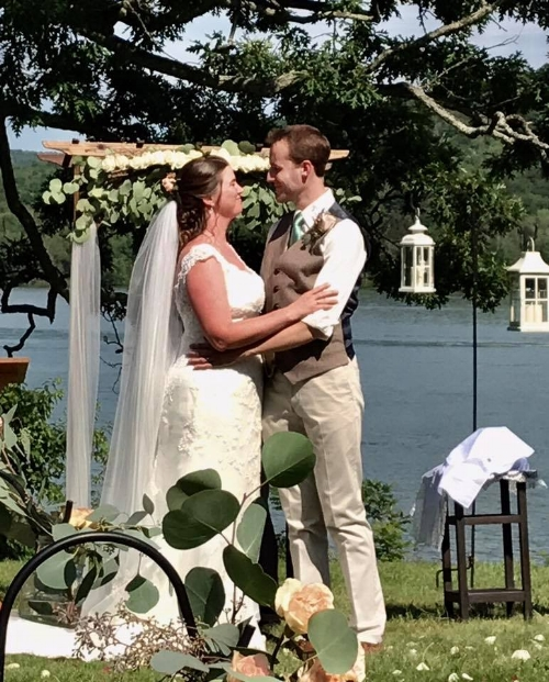 On Sunday, our nephew Ben married his sweetheart Ronnie on a beautiful lake in upstate NY. (photo credit: Tiffany Hall Folk)