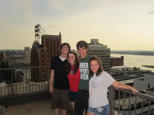 6 years ago     -                Our kids on a rooftop in Memphis, on our way to our new home in Austin. Craziest, most adventurous 6 years of my life. I'm so proud of us!