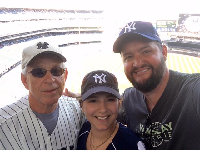 Dad & Mom Visit  Yankees game!