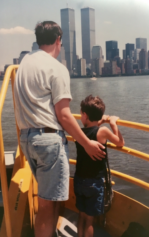 Andrew's first trip to NYC and his first Yankees game (summer 1996)