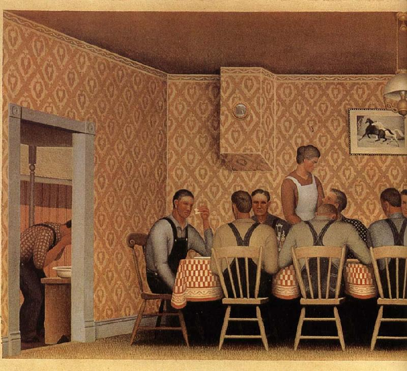 The Thresher's Supper, 1934  Grant Wood