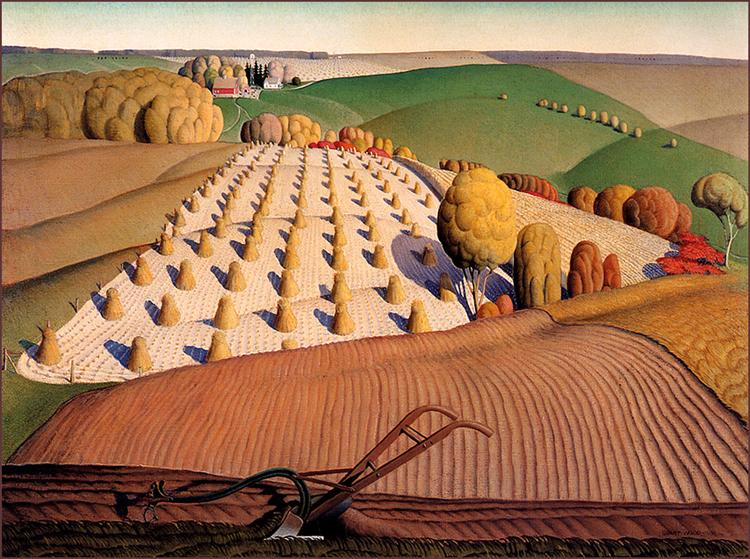Fall Plowing, 1931  Grant Wood