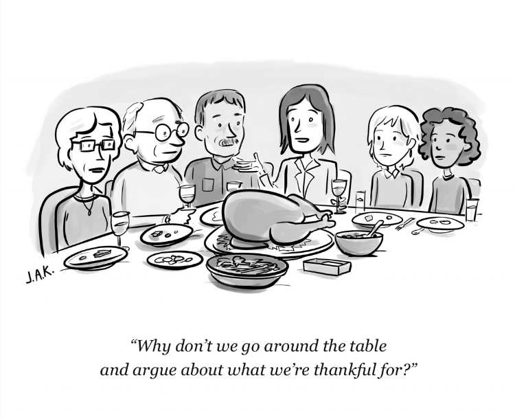 via New Yorker's Thanksgiving email to subscribers, 11/22/2017