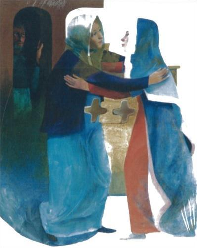 The Visitation   Arcabas (Jean-Marie Pirot, b. 1927)
