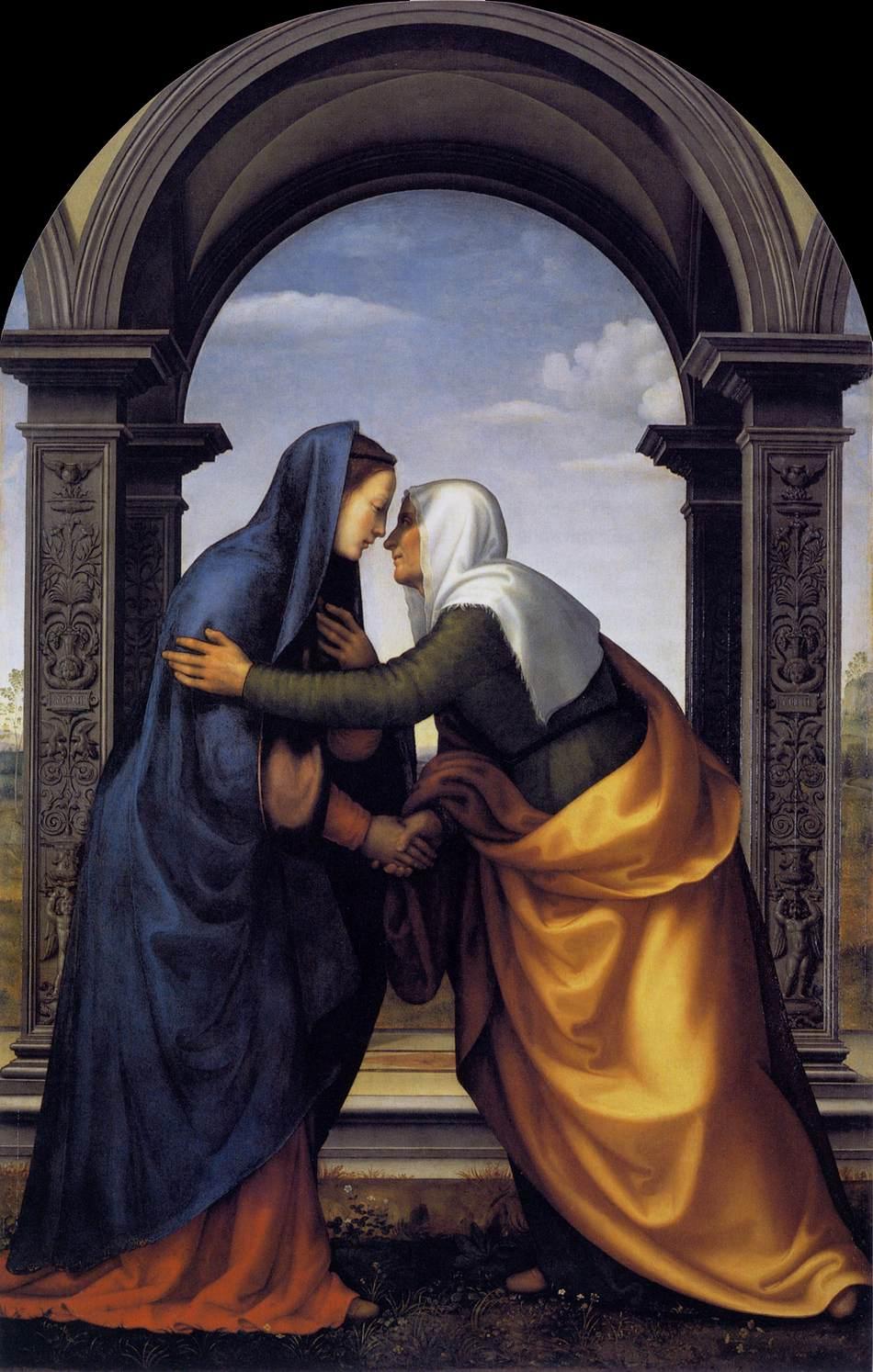 Visitation, 1503  Mariotto Albertinelli (1474-1515)