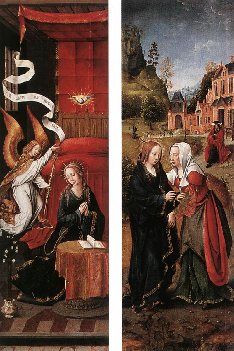 Annunciation and Visitation, 1525  Unknown Master, Flemish